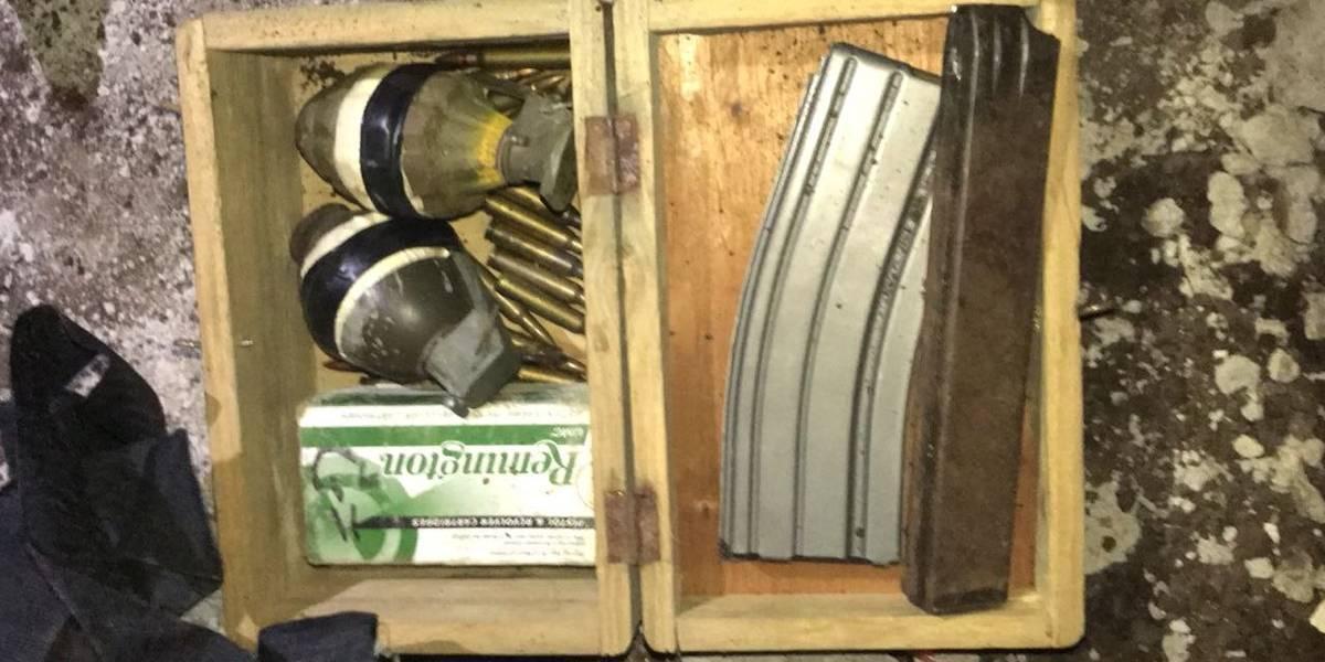Un capturado, un fusil y dos granadas dejó la Operación Olimpo