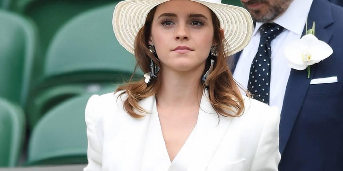 ¡Regia! Así lució Emma Watson de blanco en Wimbledon