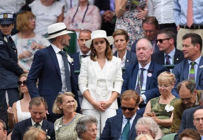 Emma Watson palco Wimbledon