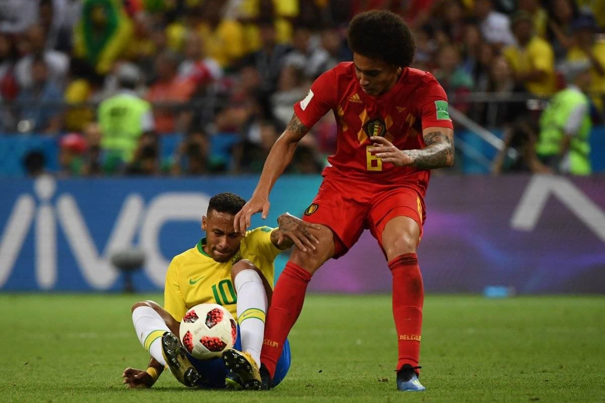 Neymar en su último juego en el Mundial