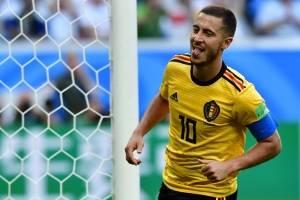 Hazard marcó el tercer gol de Bélgica