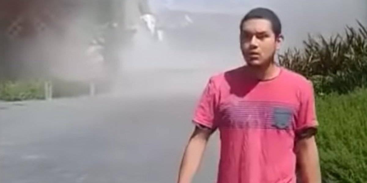 Hombre aparece de la nada en video viral del derrumbe de edificio en México