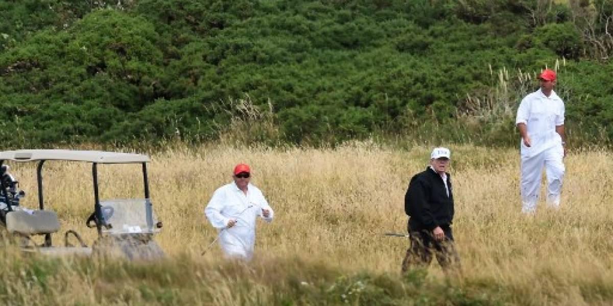 Trump, en Escocia para la última etapa de una polémica visita a Reino Unido