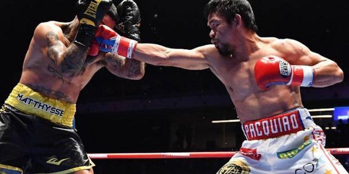 Pacquiao noqueó a Matthysse y vuelve a ser campeón del mundo