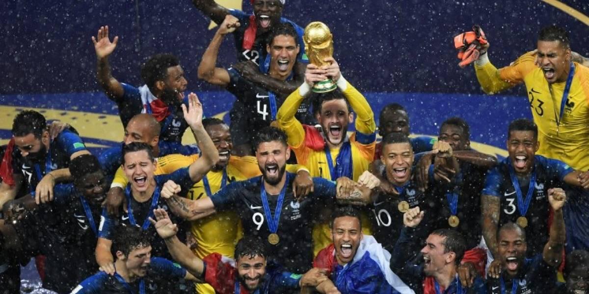 El campeón Francia en el primer puesto de la clasificación FIFA, Guatemala en el 146