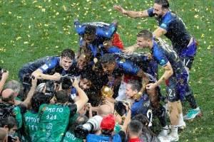 La celebración a lo grande del equipo francés