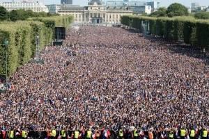 París se desbordó con el triunfo de Francia / EFE
