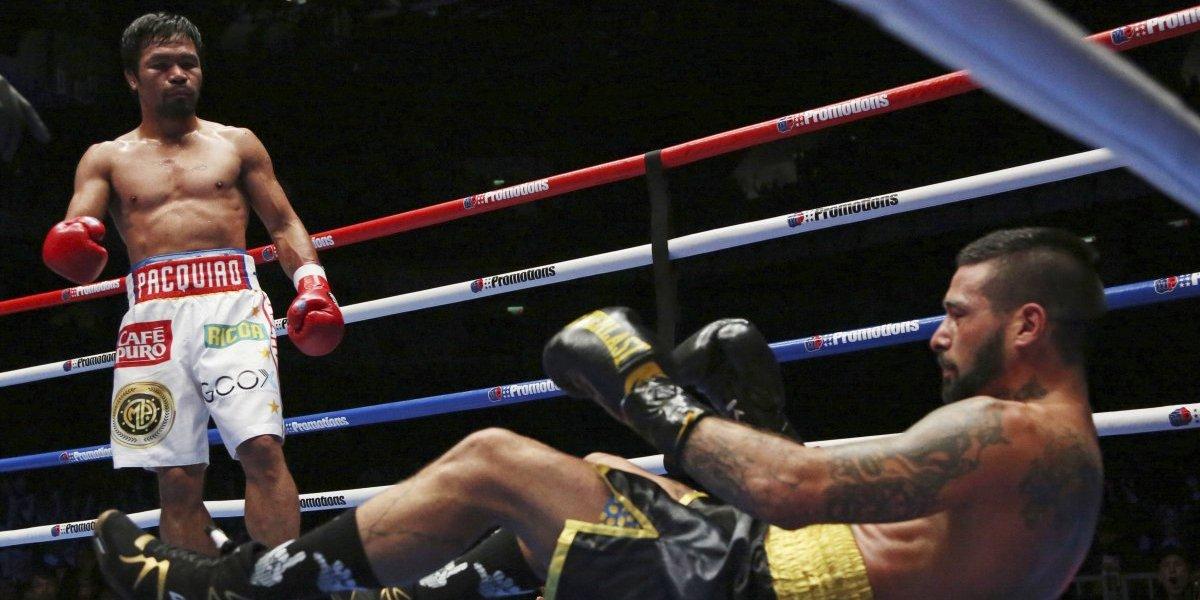 Un extraordinario Manny Pacquiao dio una exhibición de boxeo ante el argentino Matthysse