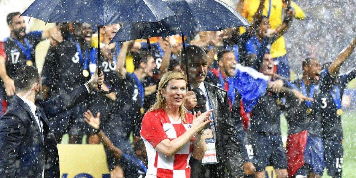 La presidenta de Croacia se convierte en la fan número 1 en la final de Rusia