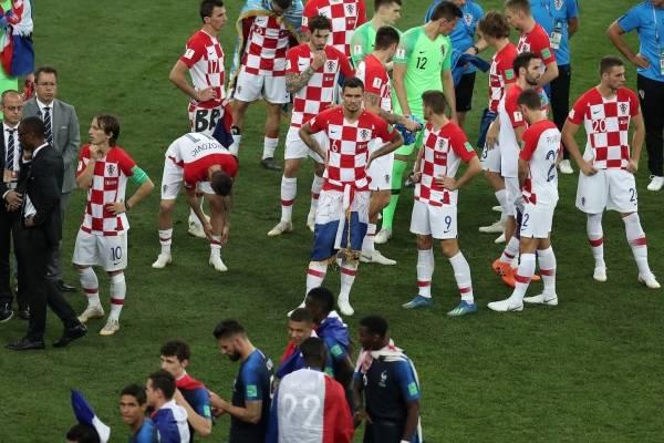 Gesto de la Selección de Francia con Croacia