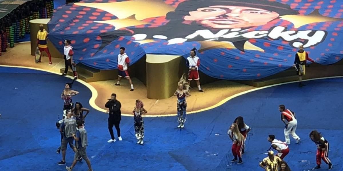 Rosselló comparte imágenes de presentación de Nicky Jam en el Mundial