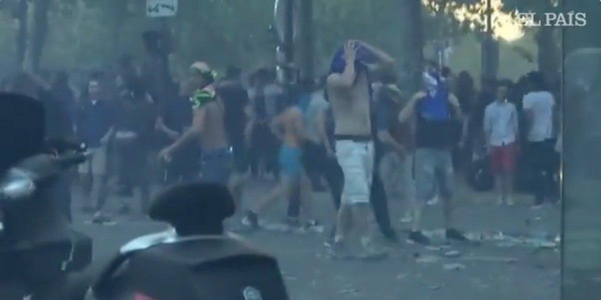 VIDEO. Aficionados se salen de control y terminanen vandalismo en París