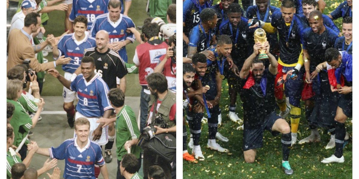 La leyenda continúa: Las viejas glorias de Francia 1998 saludan a los nuevos campeones del Mundo