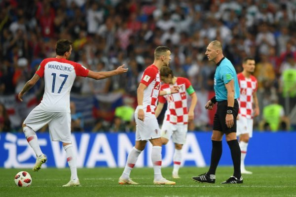 Los cobros de Pitana no dejaron contento a los croatas / imagen: Getty Images