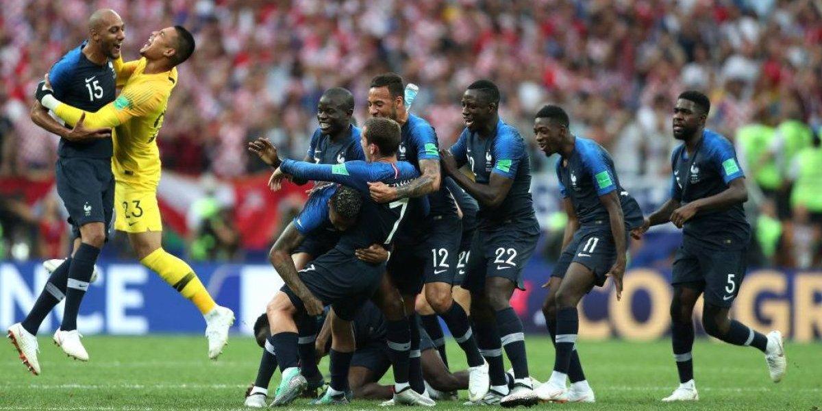Fiesta por triunfo de Francia en el Mundial Rusia 2018