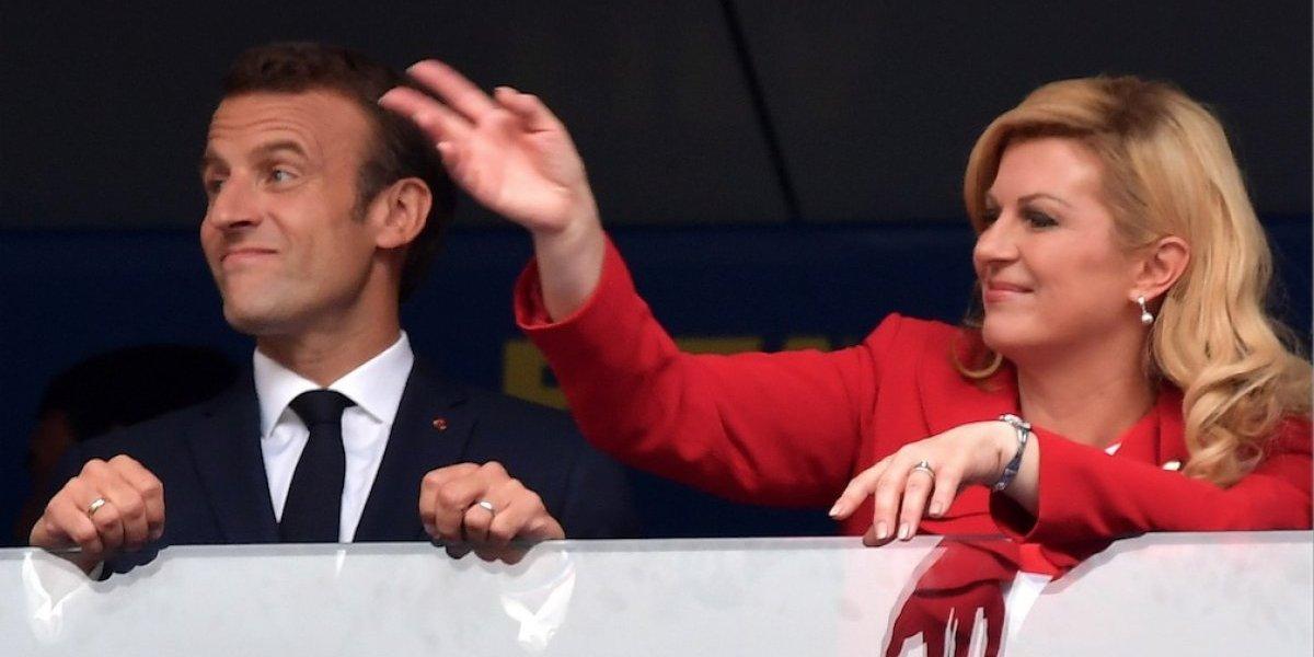 La presidenta de Croacia engalana el palco en la final del Mundial