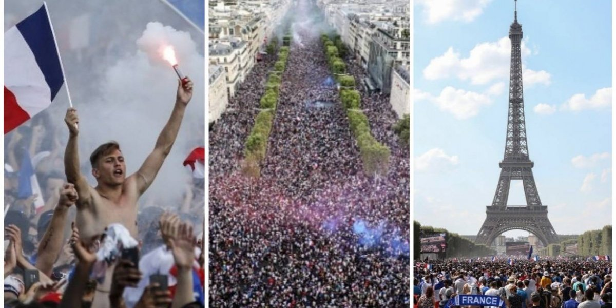 VIDEO. ¡Locura en París! Multitudes se agolpan en la Torre Eiffel para celebrar