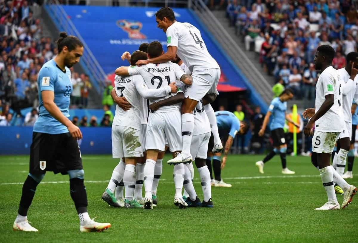 Los franceses derrotaron a Uruguay en cuartos de final