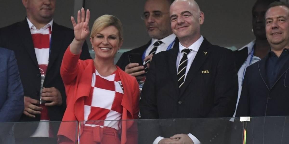Presidenta de Croacia descuenta de su salario los días que estuvo en Rusia 2018