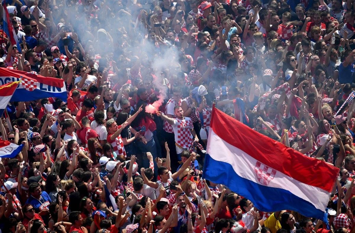 Las calles de Zagreb se inundaron de fanáticos de la selección.