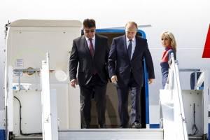 Donald Trump y Vladimir Putin reunidos en Finlandia