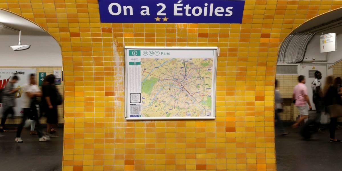 Metrô de Paris muda nomes de estações para homenagear campeões da Copa do Mundo
