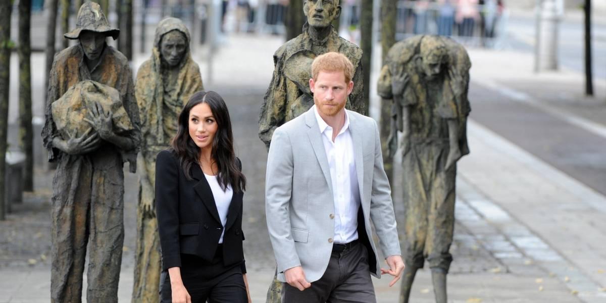 Meghan y Harry recibieron regalo durante su visita a Irlanda y quedaron sorprendidos