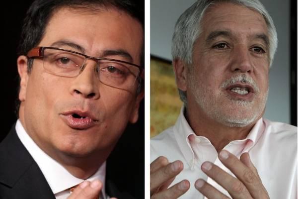 el agarrón en redes entre Petro y Peñalosa