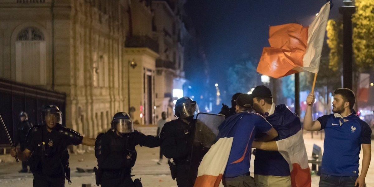 Caos: muertos, heridos y saqueos en festejos del Mundial, en París