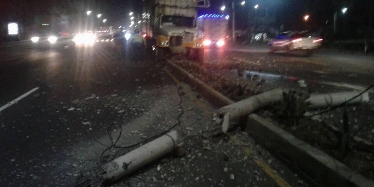 Accidentes en Villa Nueva complican el tránsito hacia la ciudad de Guatemala