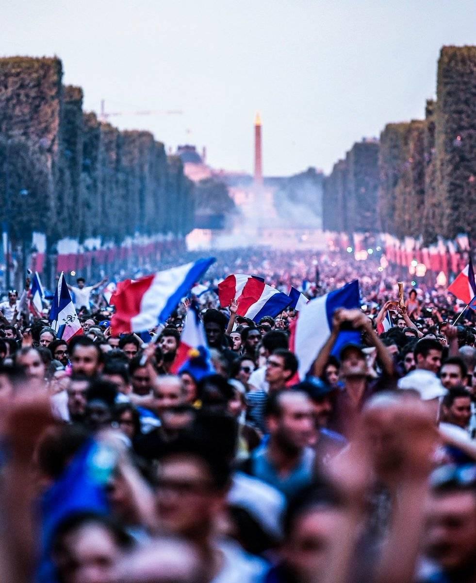 Festejos en Francia Twitter