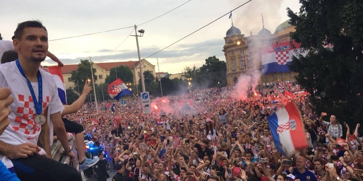 Los hinchas recibieron como héroes a la selección de Croacia tras su segundo lugar en Rusia 2018