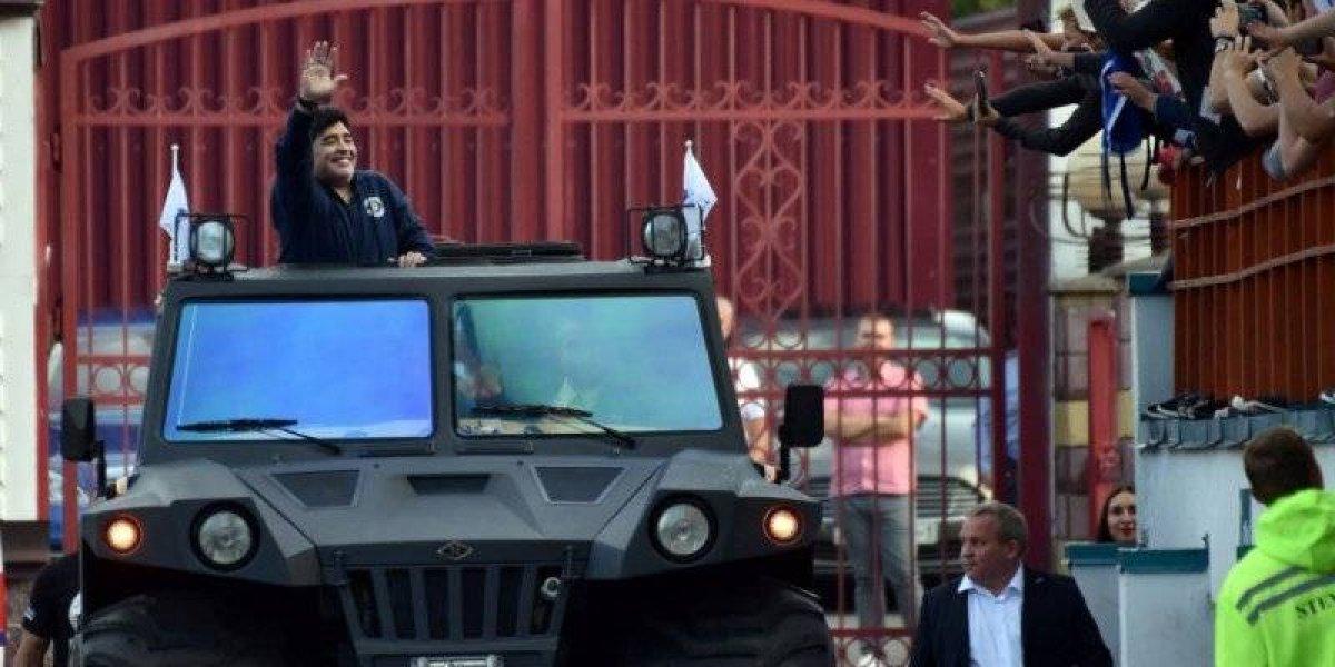 Maradona asume la presidencia del Dinamo Brest