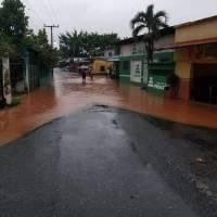 inundación en comunidad Cayuga de Morales, Izabal