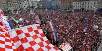 La ciudad de Zagreb festejó el subcampeonato de su selección.