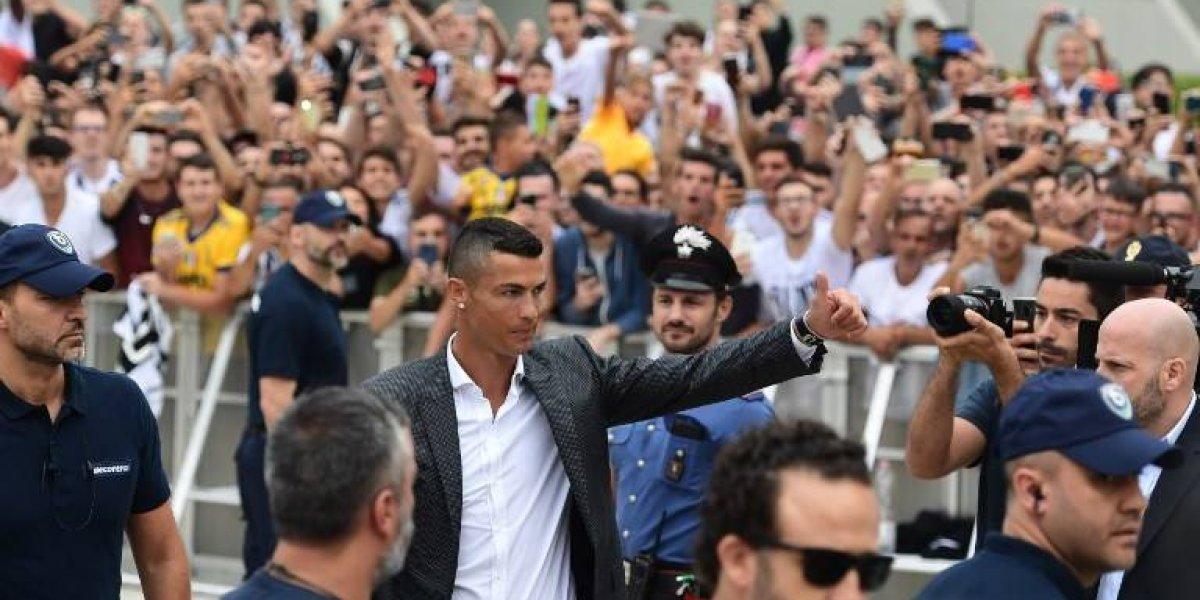 La afición de la Juventus se rinde a Cristiano Ronaldo