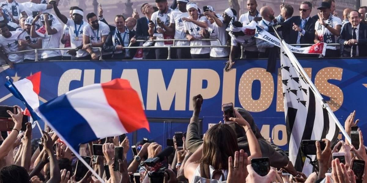 FOTOS. Así ha sido el festejo de los campeones del mundo en París