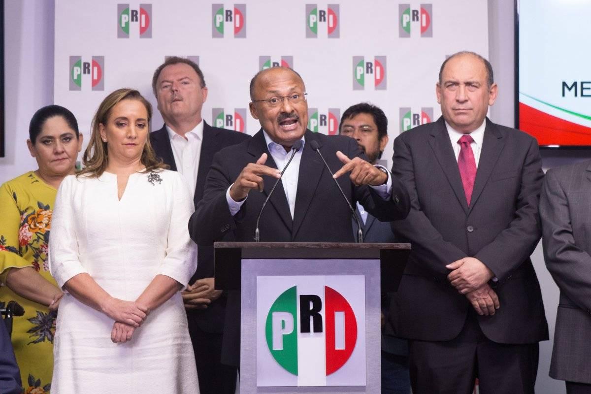 René Juárez presidente nacional del PRI, presentó su renuncia al cargo y se le otorgó el puesto a Claudia Ruiz Massieu. Foto: Cuartoscuro