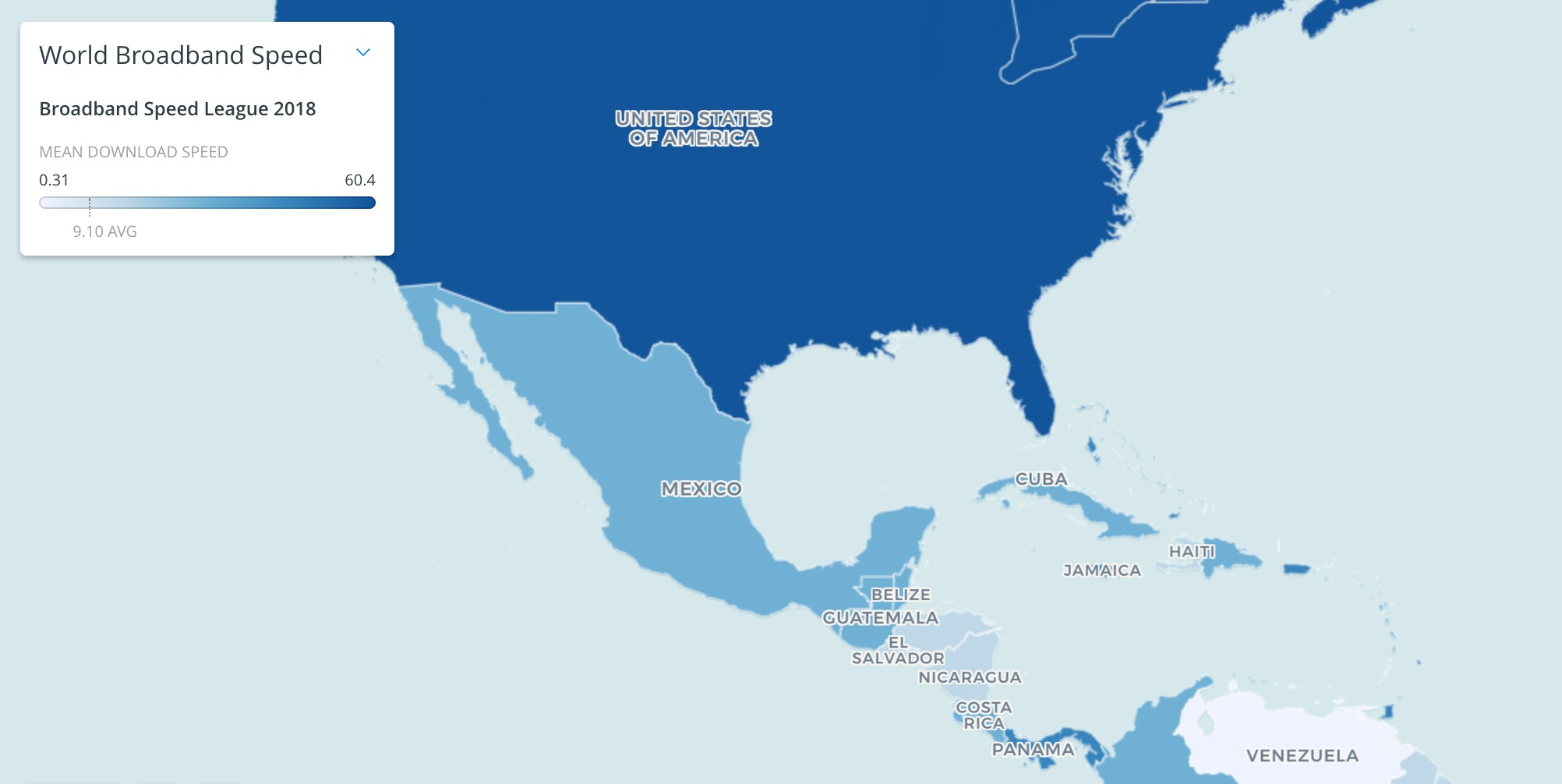 El mapa de Cable
