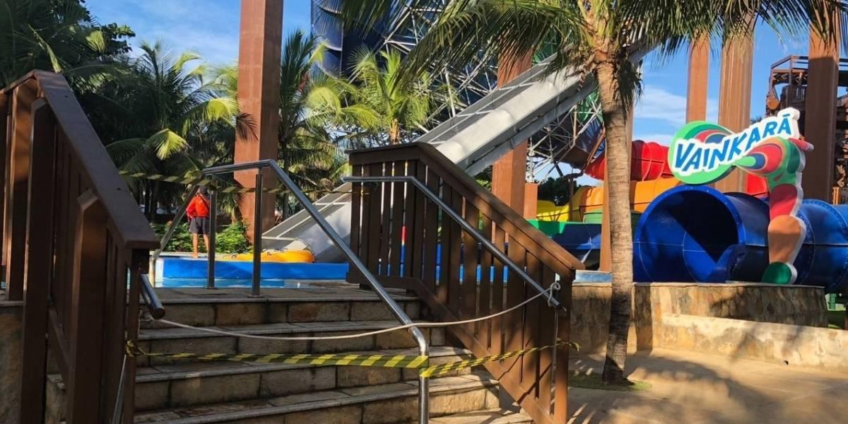 Acidente no Beach Park: boia de grupo ultrapassava o peso permitido