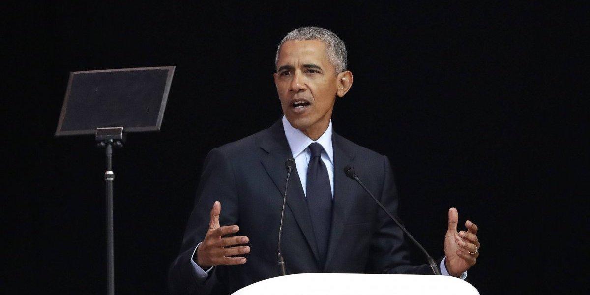 Obama da discurso en honor a Nelson Mandela en Sudáfrica