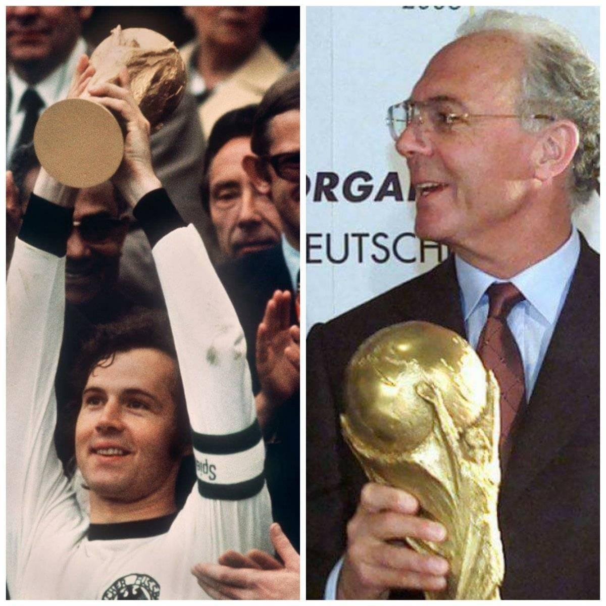 Beckenbauer ganó el Mundial como jugador en 1974 y como técnico en 1990
