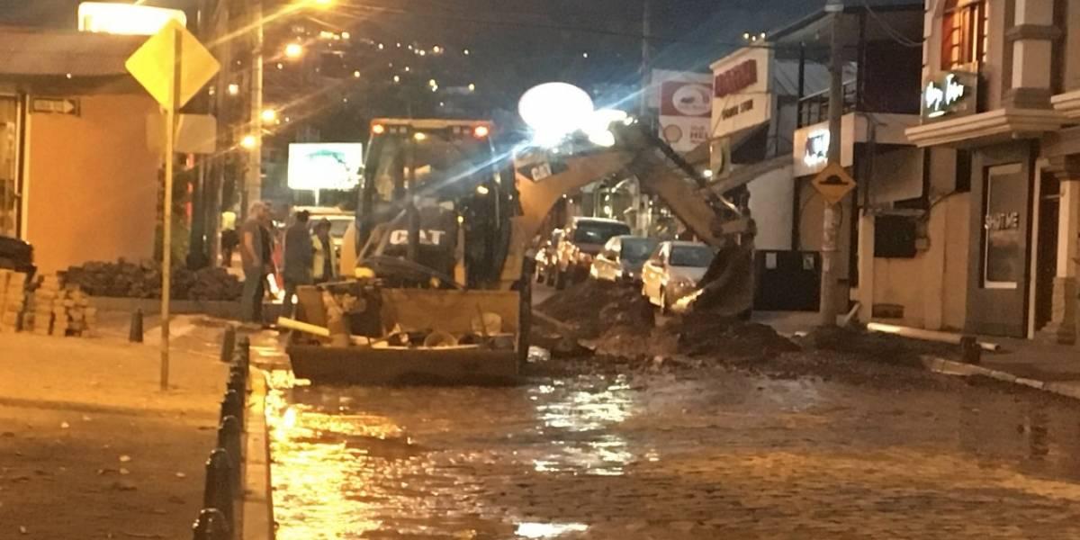 Se reporta congestión vehicular en Cumbayá por trabajos en la vía