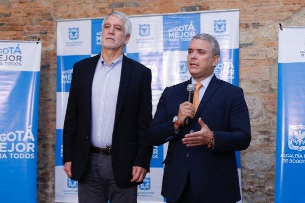 Duque y Peñalosa durante su primera reunión