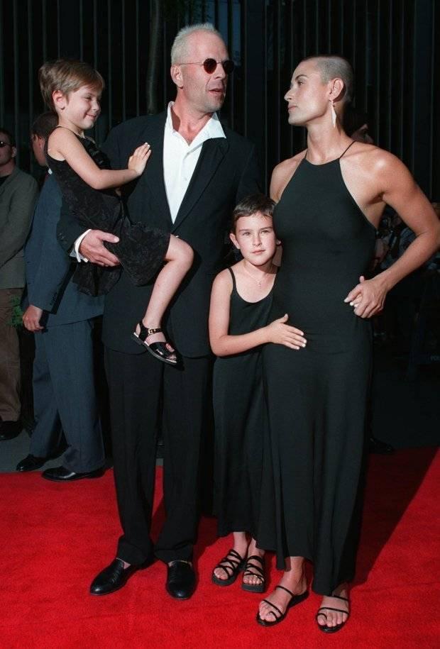 Demi Moore y su familia