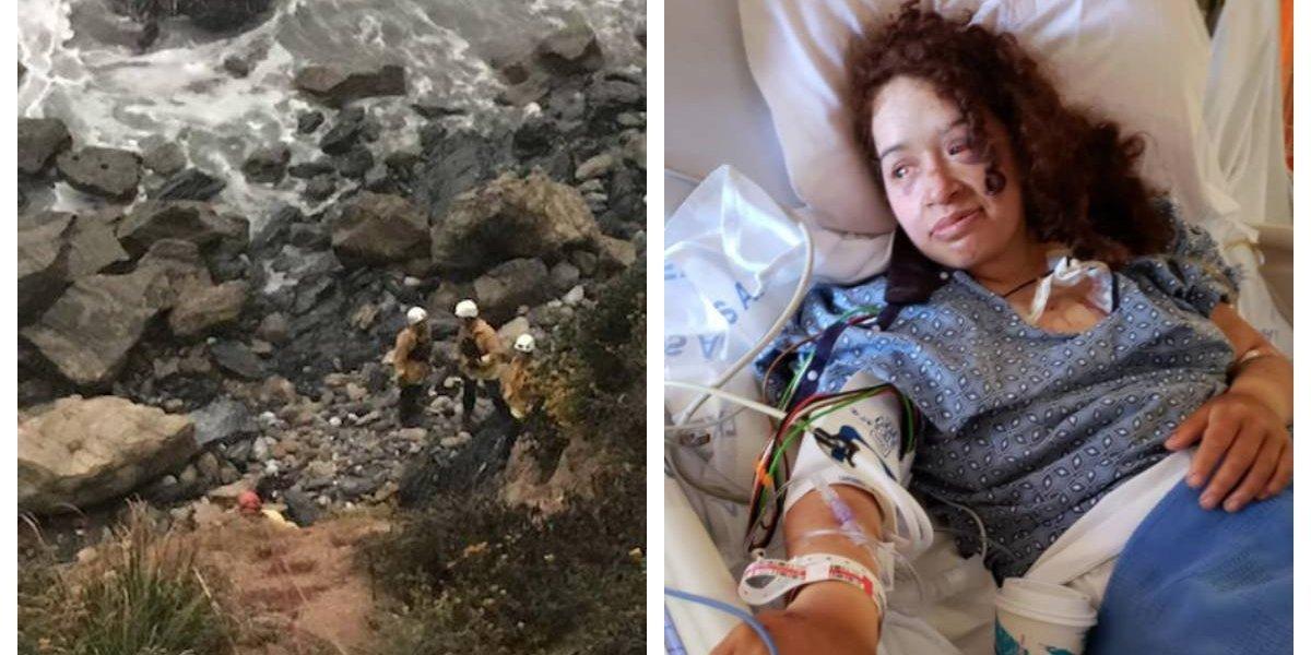 Cayó por un acantilado, quedó gravemente herida y luego de una semana la rescataron casi por un milagro y cuando ya había perdido la esperanza
