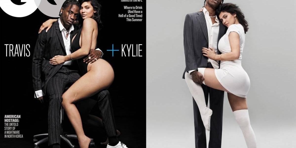 Kylie Jenner divide capa com o pai de sua filha e as fotos são quentes