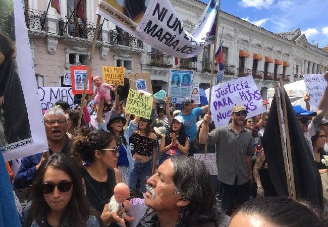 Protestas Maria Jose