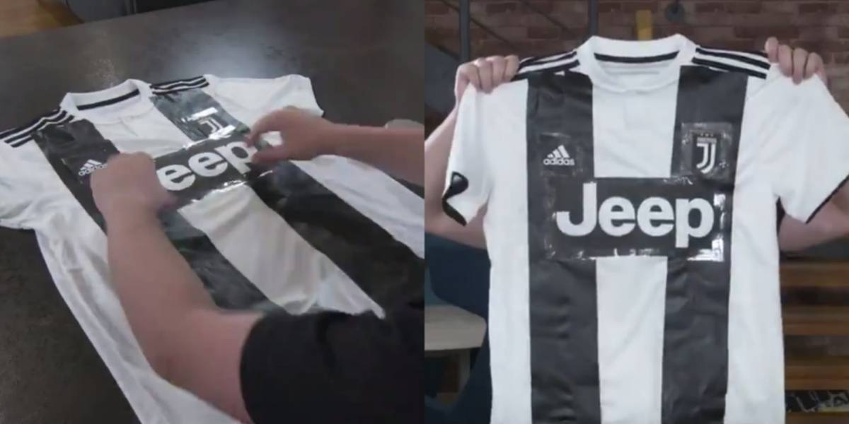 VIDEO: Tutorial para convertir playera del Madrid en una de la Juventus