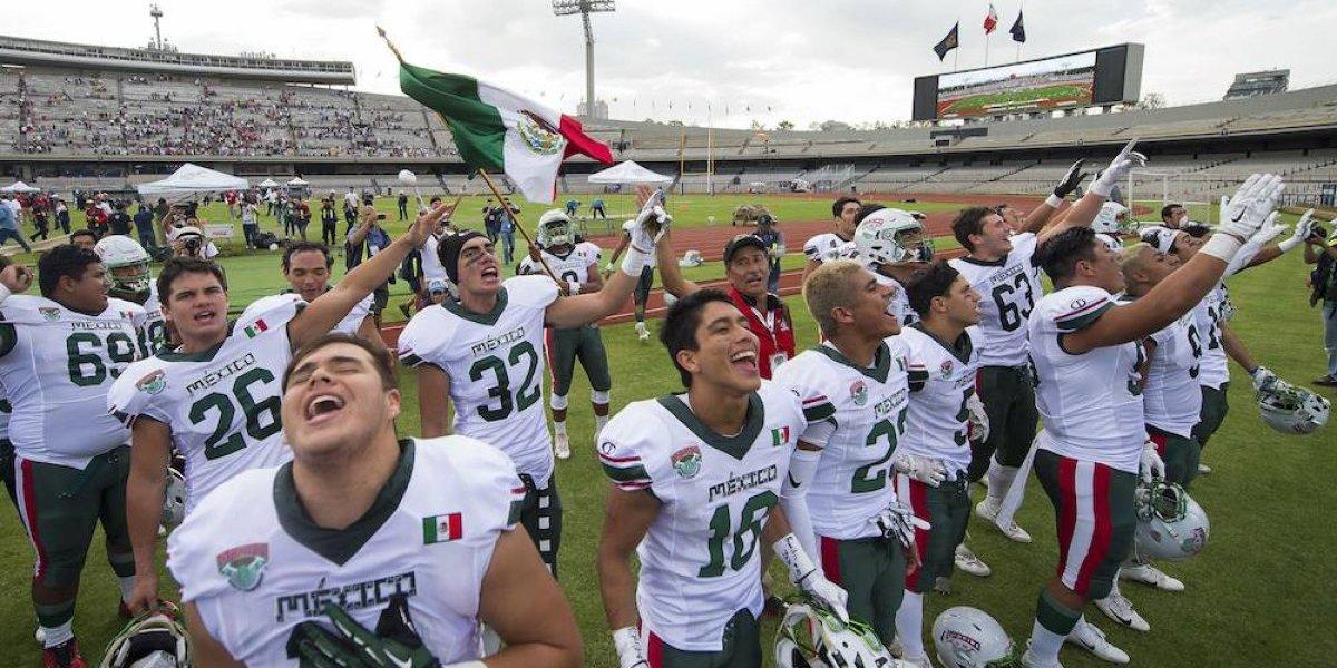 México obtiene histórico triunfo sobre EU en Mundial de futbol americano